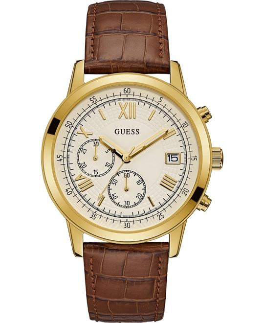 GUESS Men's Brown Watch 44mm