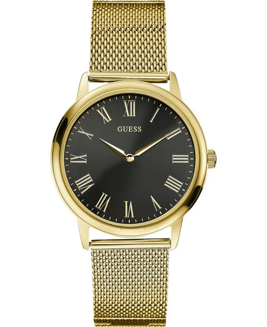 GUESS Men's Dress,Stainless Steel,Gold-Tone watch 39mm