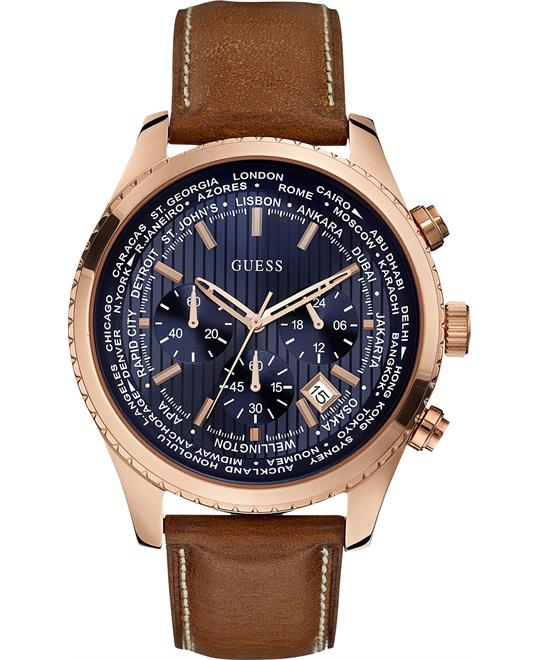 GUESS Honey Brown Chronograph Watch 46mm