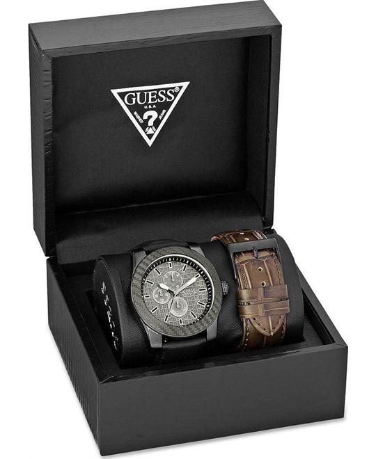 GUESS Masculine Dress Sport Watch Boxed Set 45mm