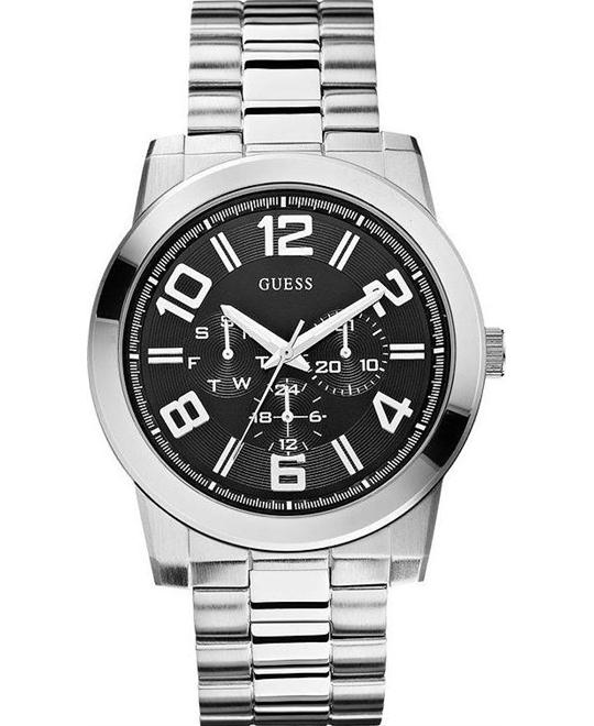 GUESS Men's Self Assured Stainless Steel Multi-Function Watch 44mm