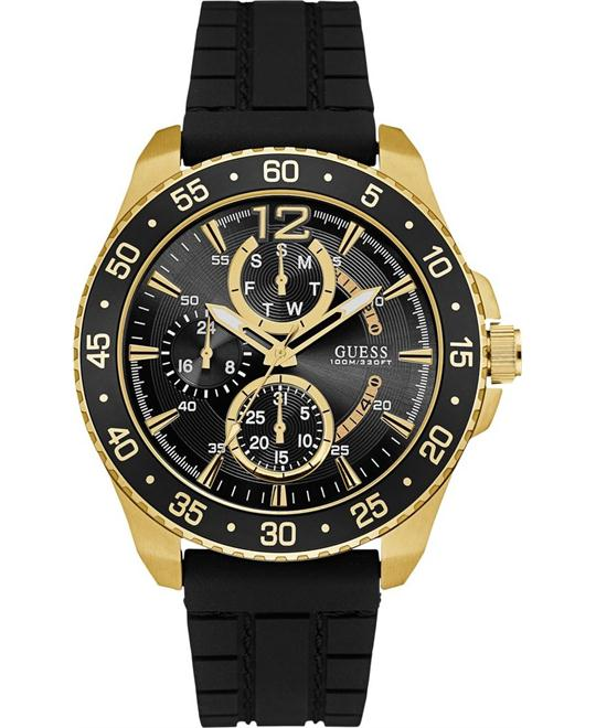 GUESS Men's Sporty Gold-Tone Stainless Steel Watch 45.5mm