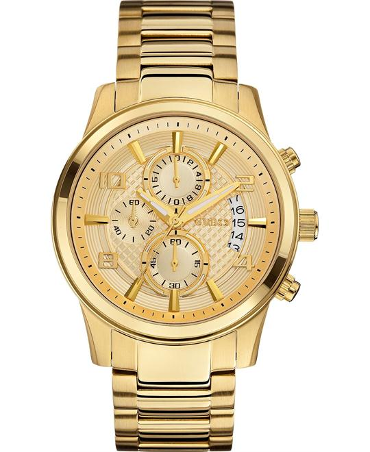 GUESS Classic Crocodile-Grained Watch 44mm