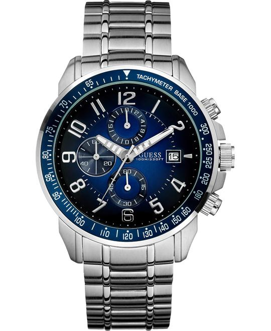 GUESS  Chronograph Men's Stainless Watch 45mm