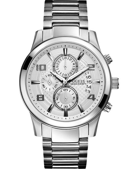 GUESS Classic Crocodile-Grained Men's Watch 44mm