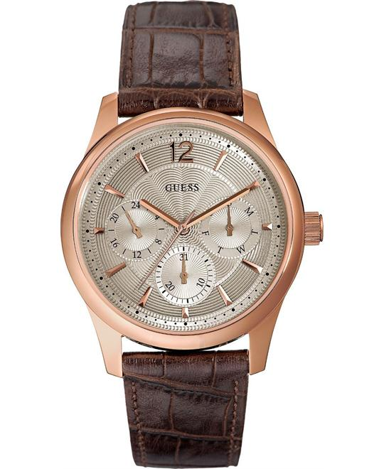 Guess Mens Rose Gold Analog  Watch 43mm