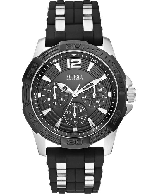 GUESS Interlinks Men's Silicone Watch 43.5mm