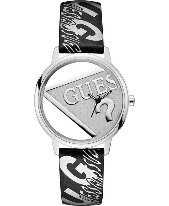 Guess Originals Silver-Tone And Black Watch 38mm