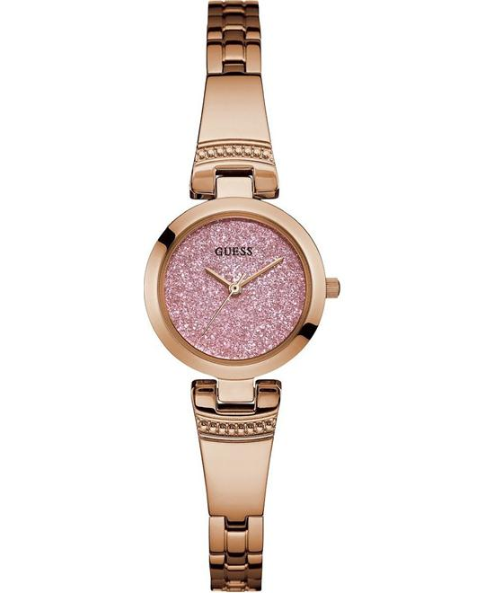 GUESS Petite Glitz Pink and Rose Gold-Tone Watch 25mm