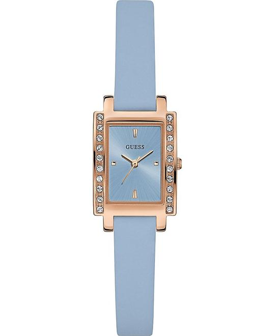 Guess Petite Rectangle Blue and Rose Goldite Watch 20x25mm