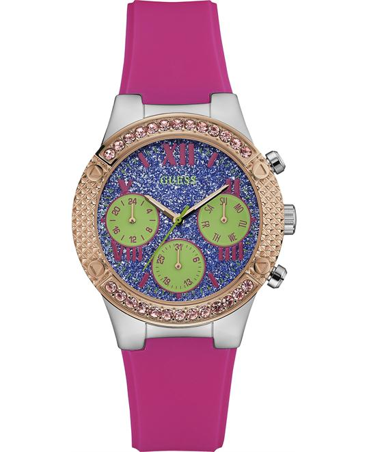 Guess Rockstar Pink Silicone Women's Watch 38mm
