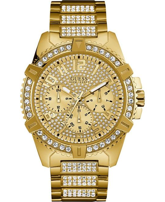 GUESS Sporty Gold-Tone Stainless Steel Watch 46mm