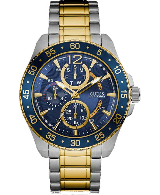 GUESS Sporty Silver-Tone & Gold-Tone Watch 45.5mm