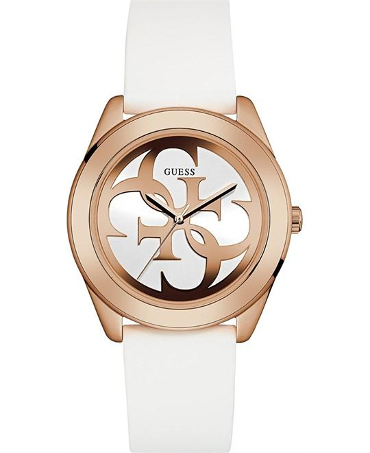GUESS Stainless Steel and Silicone Casual Watch 45mm