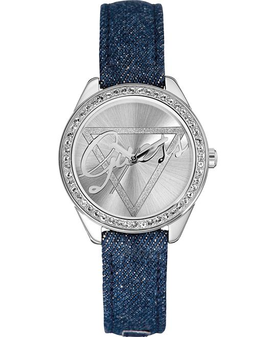 Guess Dazzling Iconic Logo Crystal Womens Watch 37mm