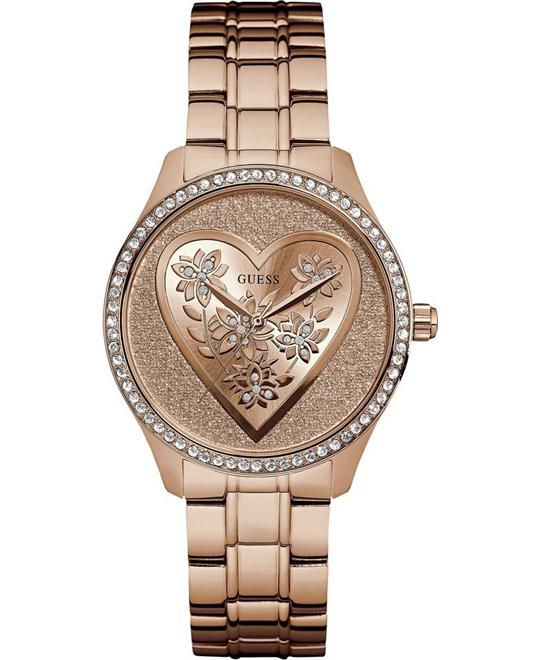 Guess Trendy Rose Gold-Tone Watch 37.5mm