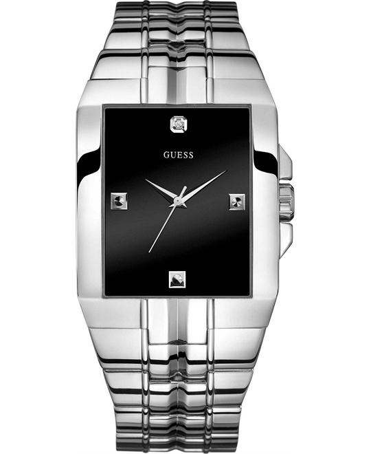 GUESS Dressy Rectangular Diamond Watch 38mm