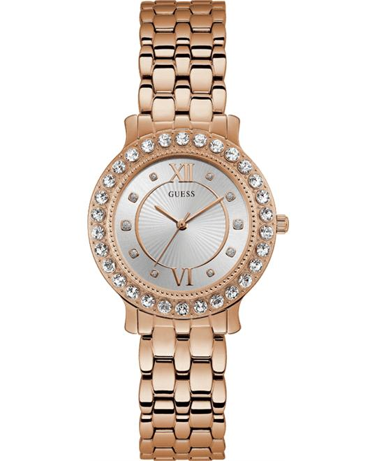 Guess Petite Crystal Blush Wrist Watch 34mm