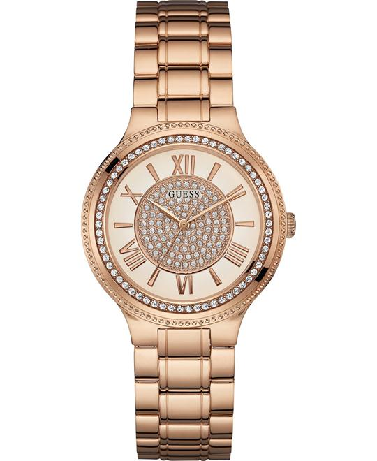 GUESS Women's Display Quartz Rose Gold Watch 36.5mm
