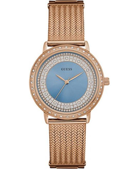 GUESS Brocade Dressy Rose Gold-Tone Watch 35mm