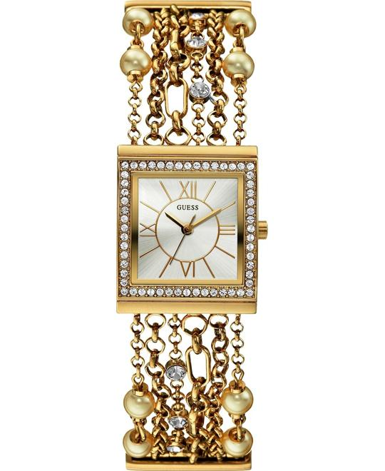 GUESS Pearl Embellished Women's Watch 26mm