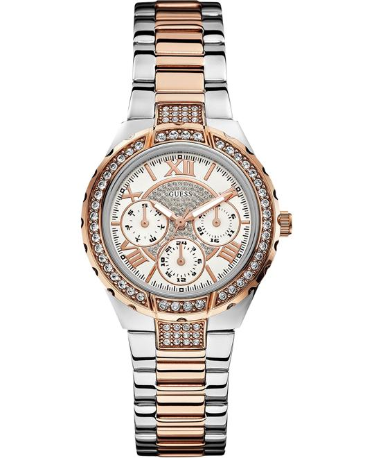 "GUESS ""Sparkling Hi-Energy"" Rose Gold Women's 37mm"