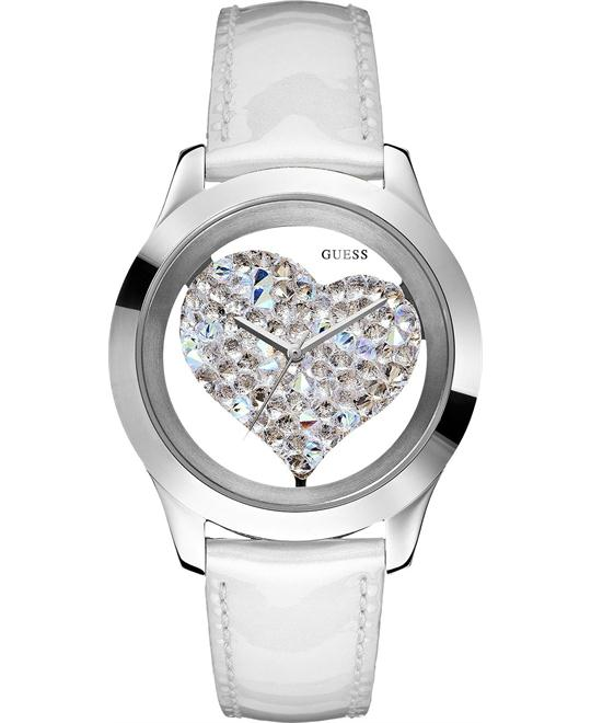 GUESS Clearly Inspired Heart Watch 43mm