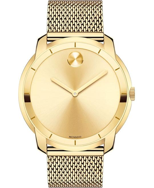 MOVADO Bold Gold Tone Mesh Watch 44mm