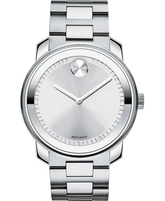 MOVADO Bold Silver Dial Stainless Steel Men's Watch 42mm