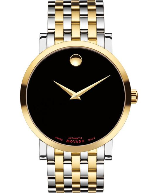 Movado Red Label Black Automatic Watch 42mm