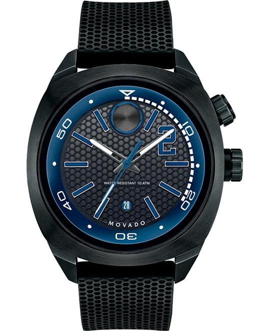 Movado Bold Swiss Black Textured Watch 44mm