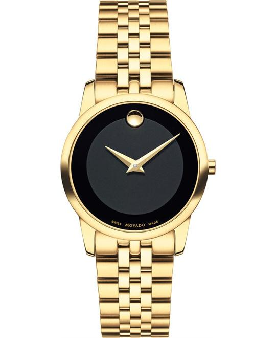 MOVADO Museum Classic Gold PVD Ladies Watch 28mm