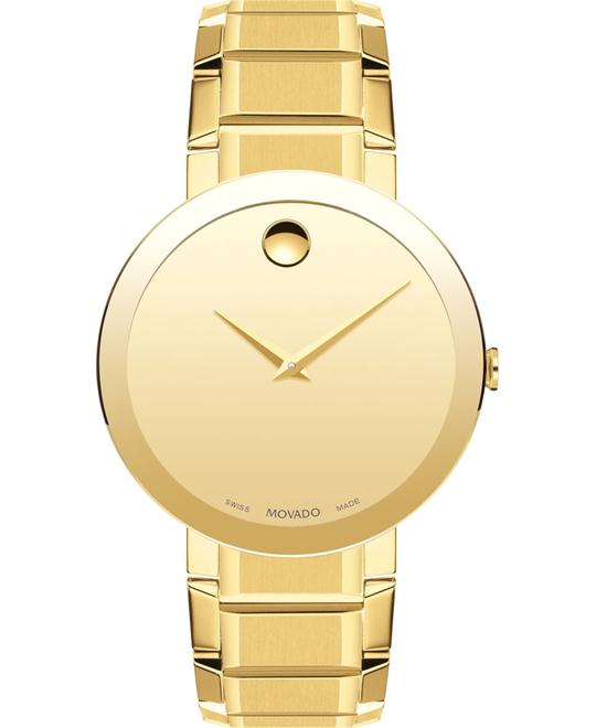 Movado Sapphire Men's yellow gold PVD Watch 39mm