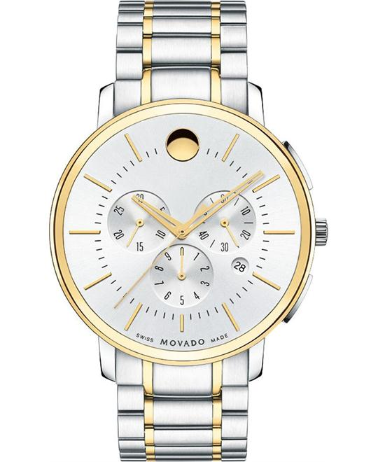MOVADO Thin Classic Chronograph Watch 44mm