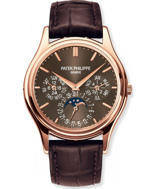 Patek Philippe Men's 18k Rose Gold Automatic Leather 37.2mm