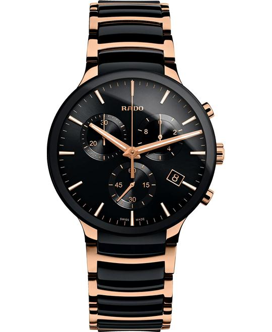 RADO Centrix Black Chronograph Watch 40mm