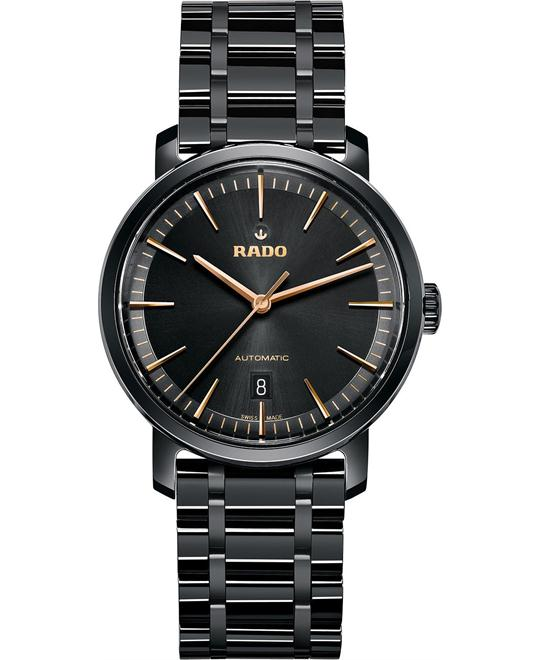 RADO Diamaster XL Automatic Black Ceramic Watch 40mm