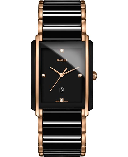 RADO Integral L Black Ceramic Diamond Watch 31x41mm