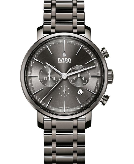 Rado Men's Swiss Automatic Chronograph Ceramic Bracelet Watch 45mm