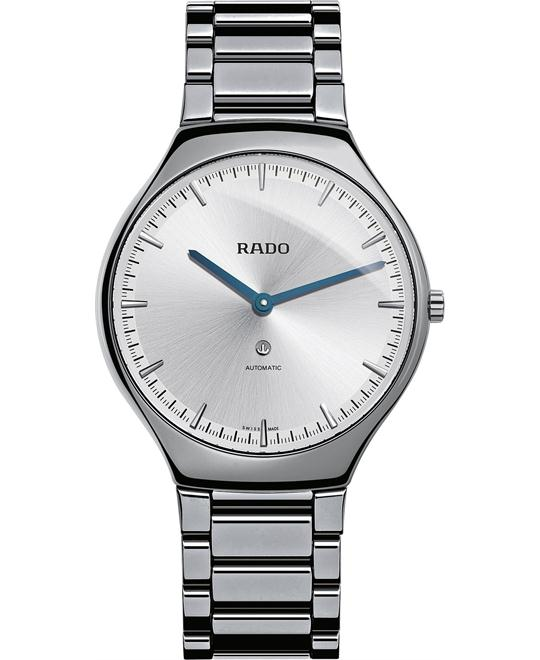 Rado Men's Swiss Automatic True Thinline Plasma High-Tech Ceramic Bracelet Watch 40mm