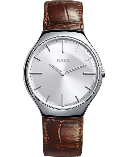 Rado Men's Swiss Brown Leather Strap Watch 39mm