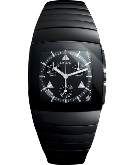 Rado Men's Swiss Chronograph Black Ceramic Bracelet 35mm
