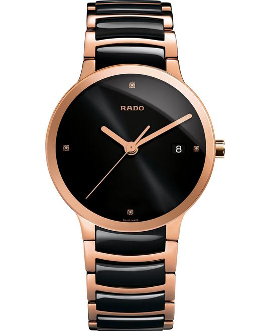 Rado Men's Swiss Diamond and Rose Gold Stainless 38mm