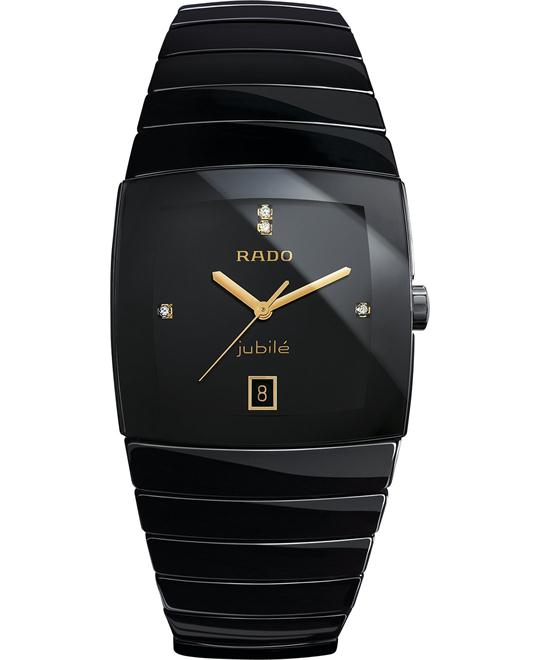 Rado Men's Swiss Diamond Black Ceramic Bracelet 35mm