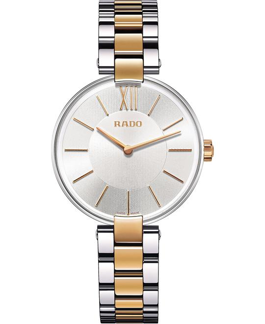 Rado Unisex Swiss Coupole Stainless Steel Bracelet Watch 33mm