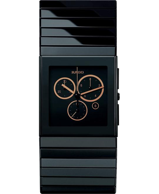 Rado Watch, Men's Ceramica Chronograph Black Ceramic Bracelet 34mm