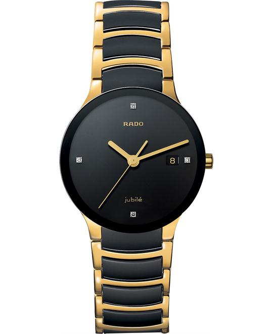 Rado Watch, Men's Diamond Black Ceramic Gold 38mm