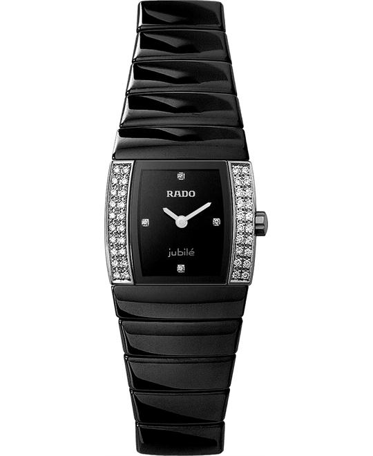 Rado Watch, Women's Sintra Black Ceramic Bracelet 22mm