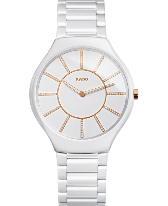 Rado Watch, Women's Swiss - Diamond White Ceramic, 39mm