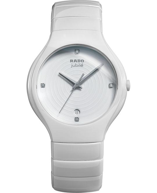 Rado Watch, Women's Swiss True Diamond - White Ceramic, 40mm